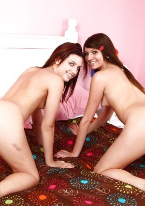 Lesbians Cassandra Nix and Mary Jane Johnson lick each other's pussies Picture 16
